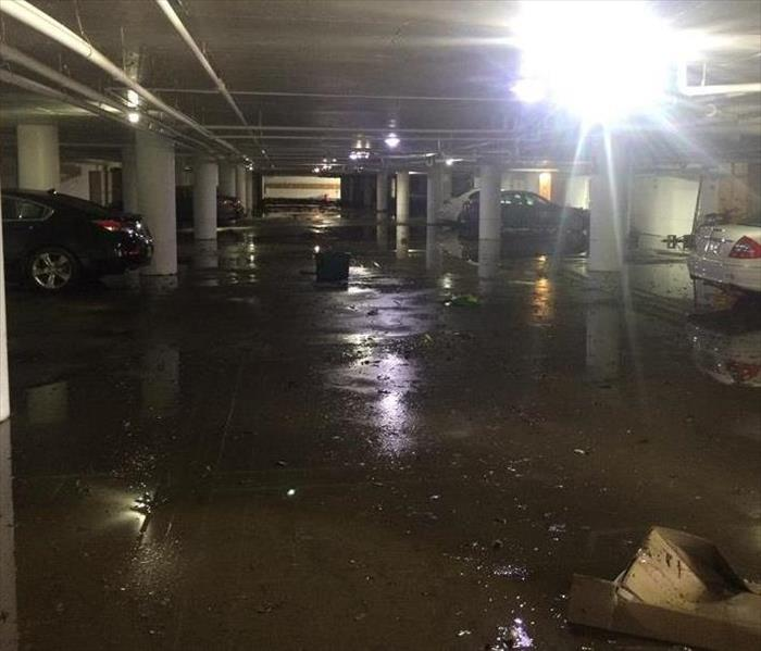 Flooded Parking Garage After